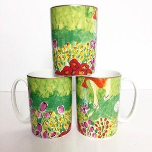 KATE SPADE NEW YORK Set of 3 Lenox Mugs